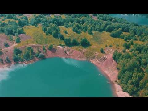 Красивое место в городе Бокситогорск. Голубое озеро (Ленинградская область)