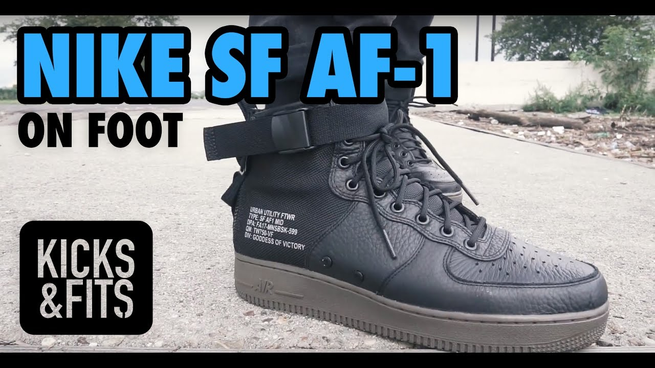 Nike Men Sf Air Force 1 Hi Boot (black black dark grey)