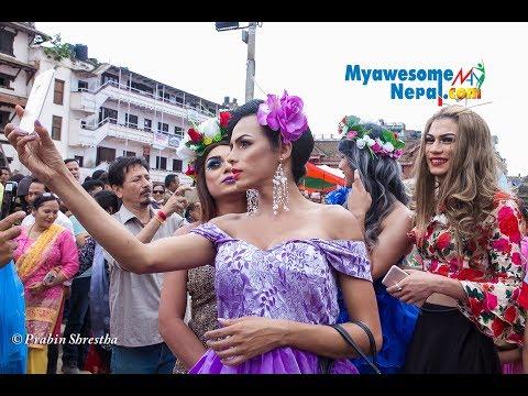 ठमेलमा तेस्रो लिङ्गी तथा समलिङ्गीहरुको गाईजात्रा / LGBTI pride festival in Gai jatra
