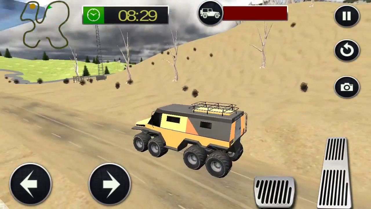 8 Wheeler Jeep Rally Game Jeep Racing Games Android Gameplay Youtube