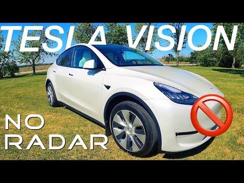 First Look TESLA VISION with NO Radar | 2021 Model Y