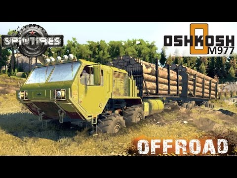 Spin Tires OSHKOSH M977EX Timber truck Off-road Test