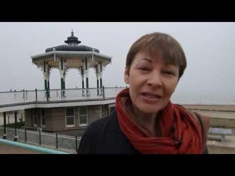 Caroline Lucas in Brighton