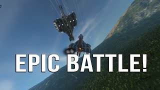 SPACE ENGINEERS   *EPIC* PLANET BATTLE