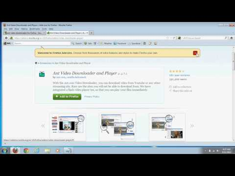 How to download and use ant video downloader add on for firefox