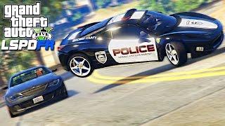Полицейские Будни в GTA 5 - ПОГОНЯ ЗА МАФИОЗИ. ПЕРЕСТРЕЛКА В ЦЕНТРЕ ГОРОДА. ВЕРТОЛЕТ В ПОМОЩЬ.