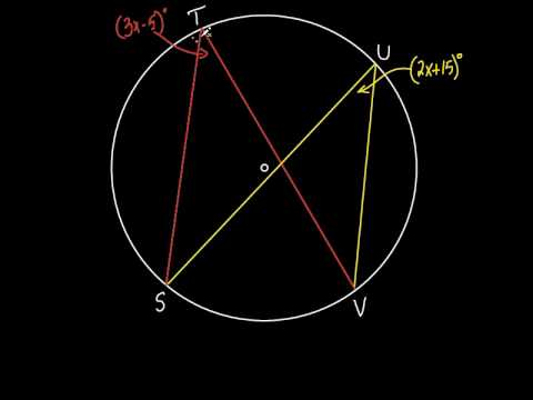 Geometry Sec 10 4 Inscribed Angles Youtube
