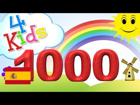 Aprender contar los números de 100 a 1000, 100 pasos - para niños y bebés (español)