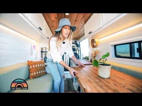 Living In A DIY Camper Van Over Paying California Apartment Rent - Gorgeous Custom Design