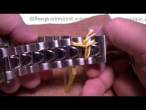 How To Resize an Invicta Watch Band Adjustment.