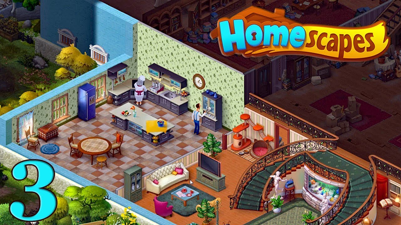 Knitting Story Homescapes : Homescapes gameplay story kitchen day Кухня День