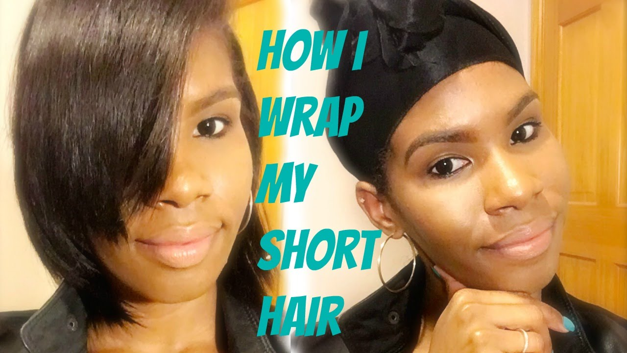 how i wrap my short hair || the technique that finally works for me