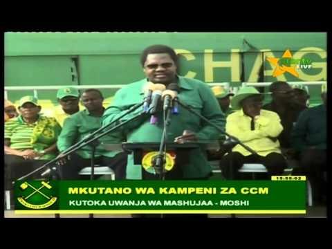 Emmanuel Nchimbi ahutubia Moshi, amsifia Magufuli