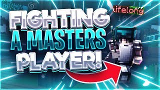 Fighting A MASTERS Player in Skywars (Hypixel Skywars)
