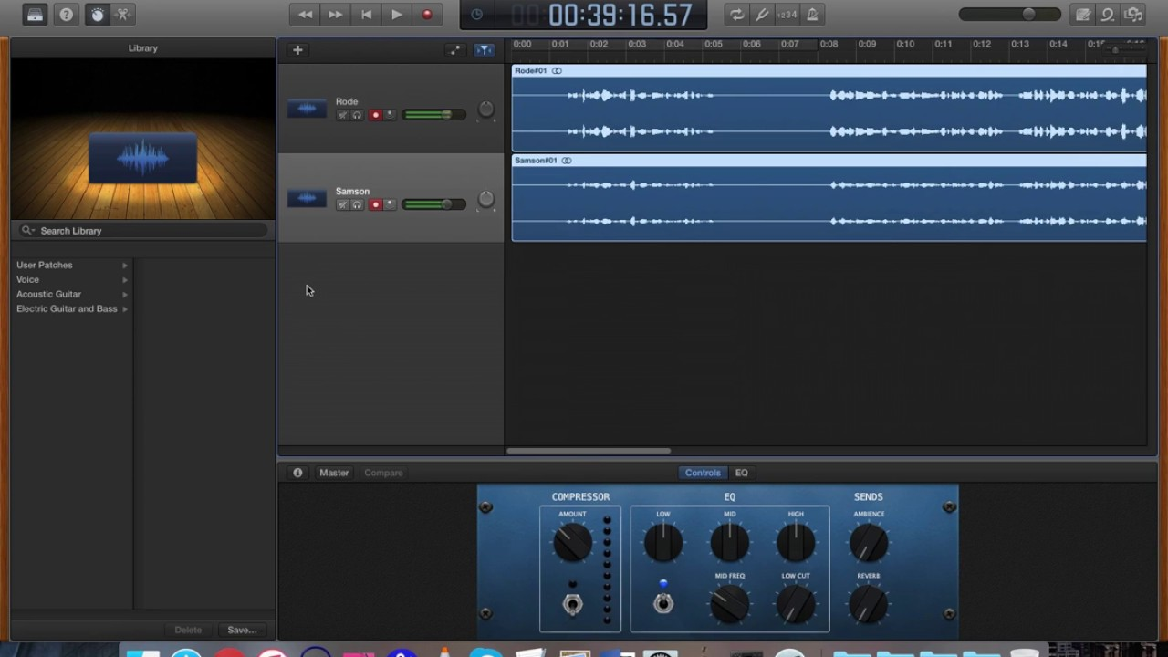 how to set up multiple usb microphones in garageband youtube