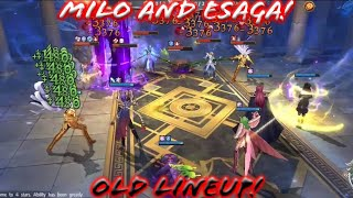 Saint Seiya: Awakening - Trying Esaga with Milo old Lineup! Still Can Win?!
