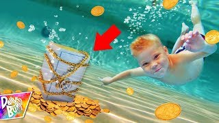 Exploring Abandoned Underwater Safe Trapped In A Waterpark! (TREASURE FOUND!)
