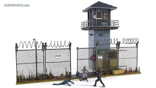 Mcfarlane The Walking Dead - Prison Tower & Gate Review!