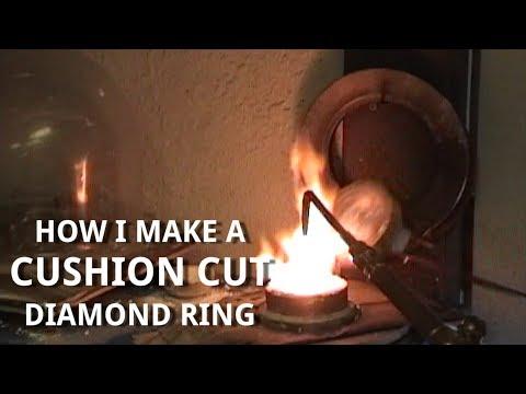 Cushion Cut Diamond Ring   1 minute 'How It's Made' video   Vanessa Nicole Jewels