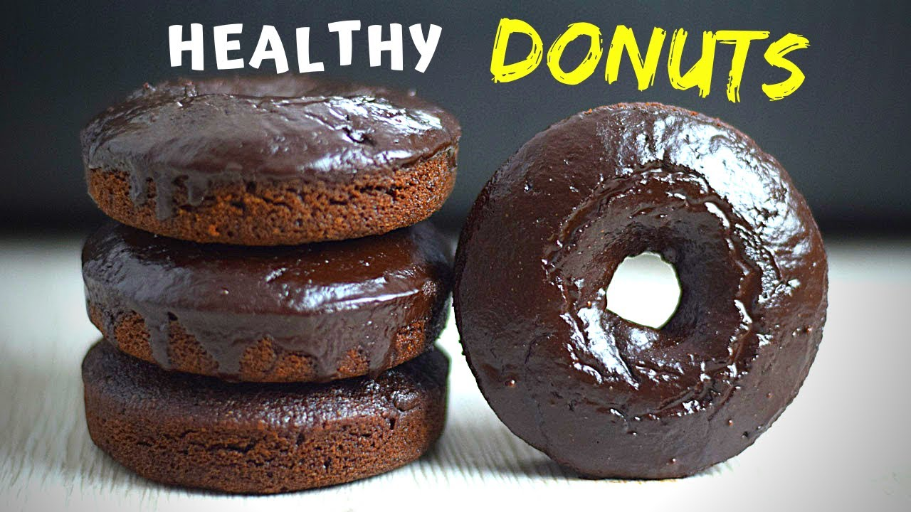 Oven Baked Chocolate Donuts (made with oats, no flour!)