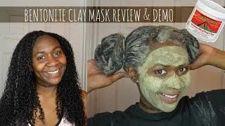 BENTONITE CLAY MASK ON NATURAL HAIR & FACE : DEMO & REVIEW
