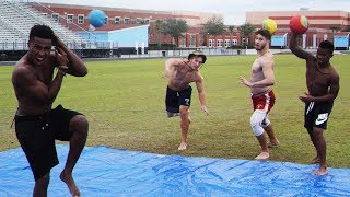 SLIP AND SLIDE DODGEBALL CHALLENGE!