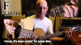 CCR - Have you ever seen the rain? Acoustic guitar tutorial with Chords, lyrics and stuff