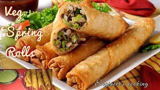 Veg Spring Roll | घर में बची सब्जी से बनाये बेज स्प्रिंग रोल | Easy  Snack Recipe
