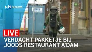 LIVE: Straat Amsterdam afgezet voor verdacht pakket bij Joods restaurant