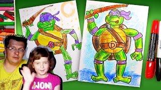 Как рисовать Черепашку Ниндзя Донателло | How to draw ninja turtles | Урок рисования для детей(Мальчики хотят знать: как рисовать Черепашку Ниндзя! Мы проведем урок рисования (раскраска) для детей. Мы..., 2016-06-17T10:55:15.000Z)
