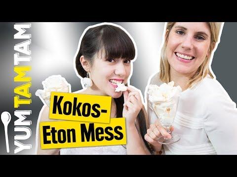 Kokos-Eton Mess // Kochen nur mit WEISSEN ZUTATEN? - Color Cooking #2 // #yumtamtam