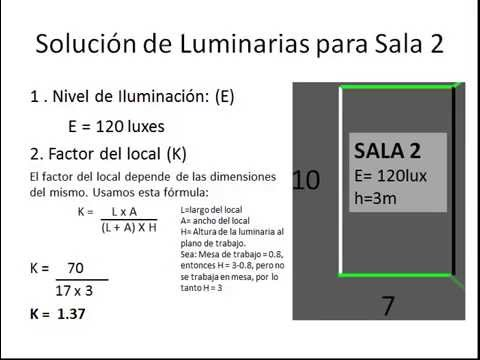 Cálculo Luminarias - YouTube