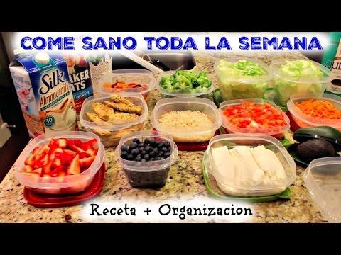 Como organizarte para comer sano toda la semana (Ep1)