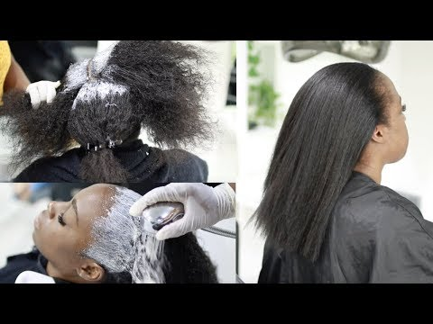 How to Have HEALTHY Relaxed Hair - Detailed Talk-Through Relaxer Day | Lagos Salon