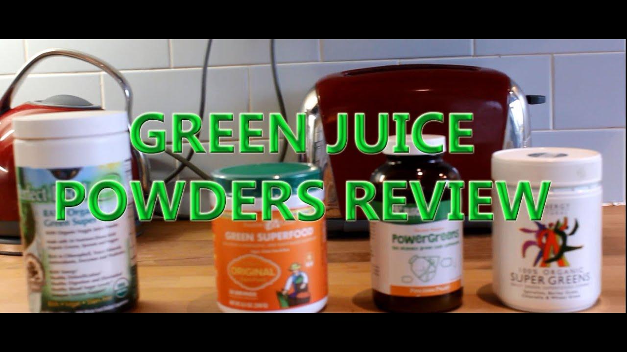 BEST GREEN JUICE DRINKS REVIEW Garden of life Juice Master Power Greens etc - YouTube