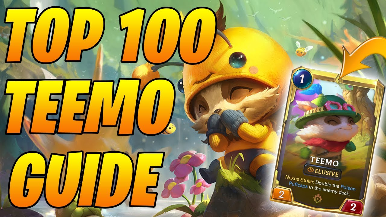 Top 100 Masters Teemo Sejuani Guide | Legends of Runeterra | Controltheboard