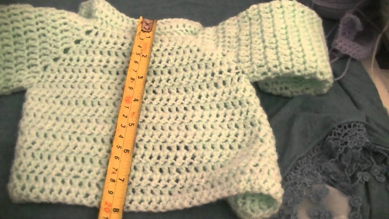 Measurements of my newborn crochet baby cardigan youtube measurements of my newborn crochet baby cardigan bankloansurffo Image collections