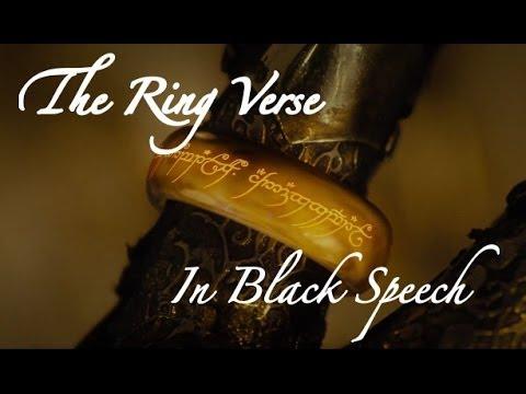 The Ring Verse In Black Speech Youtube