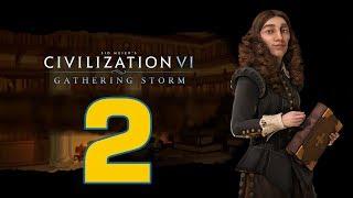 Прохождение Civilization 6: Gathering Storm #2 - Поиграть мускулами [Швеция - Божество]