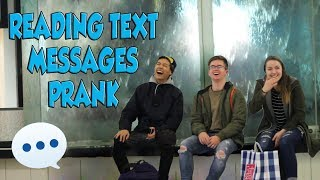 READING TEXT MESSAGES PRANK!