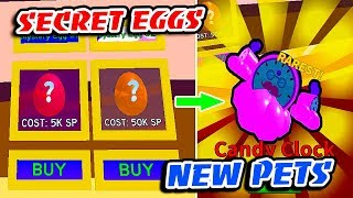 I GOT RAREST CANDY PET In SECRET EGGS & NEW BUY REBIRTH ICE CREAM SIMULATOR UPDATE!! (Roblox)