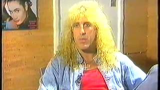 Dee Snider interview Sky channel 1987