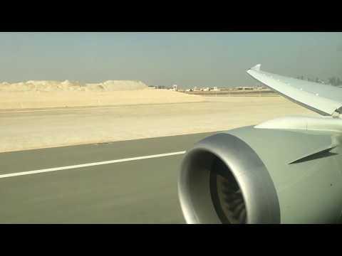 Qatar Airways Boeing 787-8 takeoff from Doha