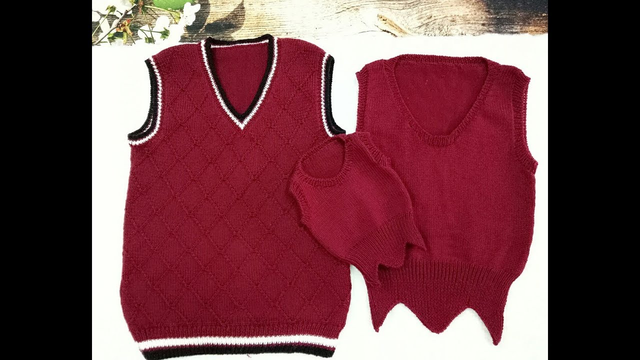 Đan áo gile cho cả gia đình   Học đan áo đẹp   Cách đan áo đan khăn đẹp