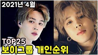2021년 4월 '남자아이돌 개인' 브랜드평판 (인기순위) Korea KPOP Boy Idol Persona…