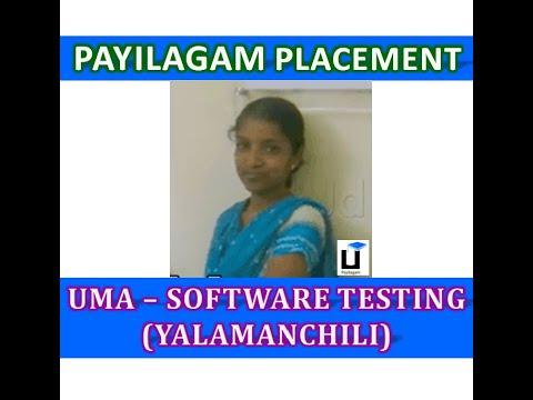 Uma (Yalamanchili) - Payilagam Placement Update - Software Testing Training In Chennai