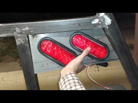 Ranchhand LED headache rack build - YouTube