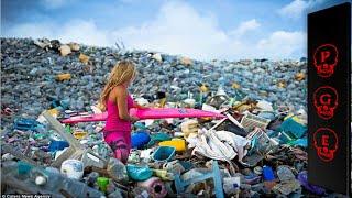 La isla de basura triste y aterrador