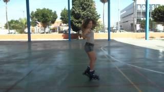 Zaira baile en patines. Coreografía