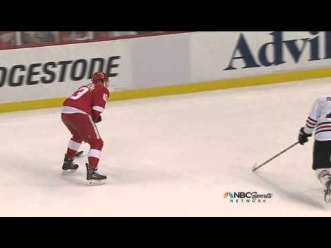 Joakim Andersson knucklepuck wrister goal 2-1 May 27 2013 Chicago Blackhawks vs Detroit Red Wings